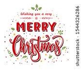 merry christmas background .... | Shutterstock .eps vector #1544326286