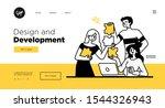 presentation slide template or... | Shutterstock .eps vector #1544326943