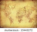 ancient map old world | Shutterstock . vector #15443272