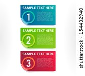 one  two  three vector colorful ... | Shutterstock .eps vector #154432940