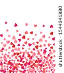 ruby red flying hearts bright... | Shutterstock .eps vector #1544341880