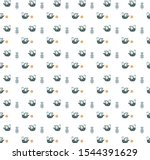 pattern with blue bird in a... | Shutterstock .eps vector #1544391629