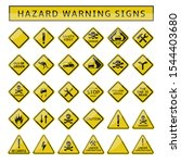 Hazard Warning Signs. Yellow...