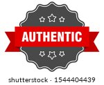 authentic red label sign....   Shutterstock .eps vector #1544404439