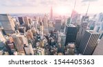 New York City Skyline In The...