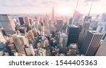 New York City Skyline In The...