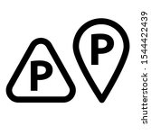 simple icon set with parking... | Shutterstock .eps vector #1544422439