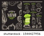 organic menu template for... | Shutterstock .eps vector #1544427956