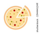 pizza icon   pizza isolate ... | Shutterstock .eps vector #1544441249
