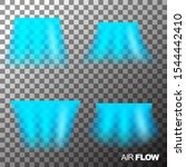 air flow of clean or cold air... | Shutterstock .eps vector #1544442410