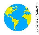 globe icon  earth planet  ... | Shutterstock .eps vector #1544445716