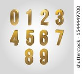 3d number collection   vector | Shutterstock .eps vector #1544449700