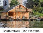 Summer Floating Raft Hut On...