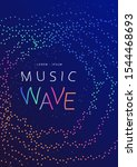 music wave poster design. sound ... | Shutterstock .eps vector #1544468693