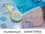 British Pound Notes And Coin