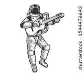 astronaut in spacesuit play... | Shutterstock .eps vector #1544476643