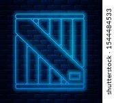 glowing neon line wooden box... | Shutterstock .eps vector #1544484533