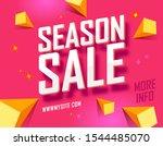 poster shopping promotional... | Shutterstock .eps vector #1544485070