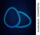 glowing neon line chicken egg... | Shutterstock .eps vector #1544490746