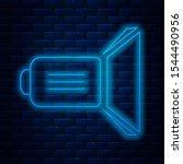 glowing neon line movie... | Shutterstock .eps vector #1544490956