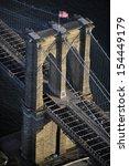 Aerial View Of Brooklyn Bridge...