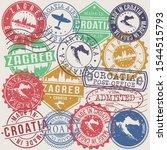 zagreb croatia set of stamps....   Shutterstock .eps vector #1544515793