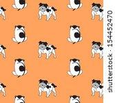 doggy pattern illustration | Shutterstock .eps vector #154452470