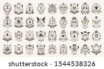 vintage heraldic emblems vector ... | Shutterstock .eps vector #1544538326