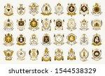 vintage heraldic emblems vector ... | Shutterstock .eps vector #1544538329