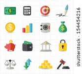 business finance money icons | Shutterstock .eps vector #154454216