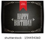 vintage birthday card | Shutterstock .eps vector #154454360