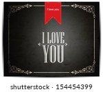 i love you  font type vintage...   Shutterstock .eps vector #154454399