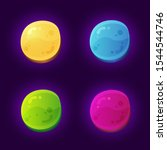 colorful abstract rounded game...