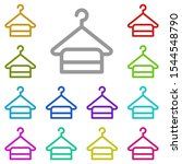 towel multi color icon. simple...
