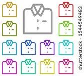 shirt multi color icon. simple...