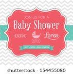 baby shower invitation | Shutterstock . vector #154455080