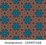 ornamental seamless (background with flowers)  - stock photo