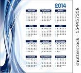 2014 Calendar. Vector...