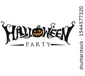 happy halloween text banner.... | Shutterstock .eps vector #1544577320