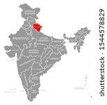 uttarakhand red highlighted in...   Shutterstock . vector #1544578829
