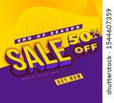 end off season sale design... | Shutterstock .eps vector #1544607359