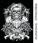 soldier robot skull warrior...   Shutterstock .eps vector #1544610866