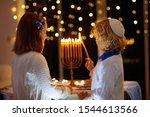 Kids Celebrating Hanukkah....