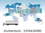 world logistics network concept ... | Shutterstock .eps vector #1544618480