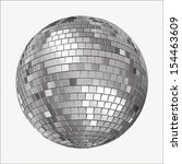 vector version of  a mirrorball ... | Shutterstock .eps vector #154463609