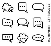 set of chat speech bubble icon. ...