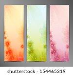 abstract flower vector... | Shutterstock .eps vector #154465319