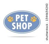 pet shop label vector isolated | Shutterstock .eps vector #1544654240