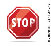 stop sign vector isolated... | Shutterstock .eps vector #1544654243
