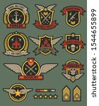 military army badges. patches ... | Shutterstock .eps vector #1544655899
